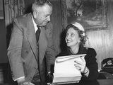 Margaret Truman Signs a Contract to Make a Recording, Feb. 1. 1950 Photo