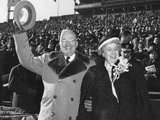 President Harry Truman and First Lady Bess Truman at the Army Navy Football Game Print