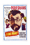 Mr. Topaze, (Aka I Like Money), Left: Nadia Gray; Center: Peter Sellers, 1961 Posters