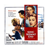 Song Without End, Right: Dirk Bogarde; Insert from Top: Genevieve Page, Capucine, 1960 Prints