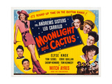 Moonlight and Cactus Posters