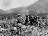 U.S. Marine Artillery Softens Up North Koreans for Marine Infantrymen Prints