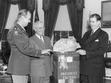 President Harry Truman Accepts a Turkey from Senator Olin Johnston of South Carolina Posters