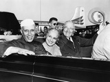 Prime Minister Jawaharlal Nehru of India and President Harry Truman in Open Car Photo