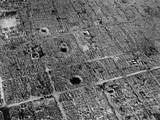 Aerial View of Osaka, Japan, after Firebombing by U.S. Incendiary Bombs Prints