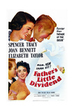 Father's Little Dividend, from Top: Joan Bennett, Spencer Tracy, Don Taylor, Elizabeth Taylor, 1951 Poster