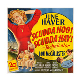 Scudda Hoo! Scudda Hay!, Left: June Haver, 1948 Print
