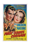 First Comes Courage, from Left: Brian Aherne, Merle Oberon, 1943 Prints