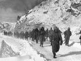 U.S. Marines March South from Kotori, Withdrawing from the Chosin Reservoir in North Korea Photo