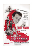The Love Lottery, Center: David Niven; Below Left: Peggy Cummins, 1954 Prints