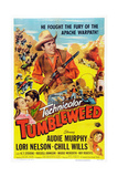 Tumbleweed, Kissing from Left: Lori Nelson, Audie Murphy, Chill Wills, 1953 Prints