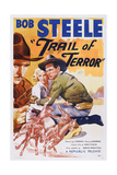 Trail of Terror, Center: Beth Marion, Right: Bob Steele, 1935 Art