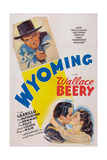 Wyoming, Top: Wallace Beery; Bottom from Left: Leo Carrillo, Ann Rutherford, 1940 Giclee Print