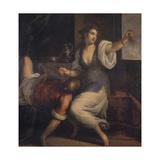 Sleeping Samson and Delilah, C. 1610-15, Italy Poster von Palma Vecchio