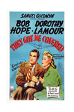 They Got Me Covered, Bob Hope, Dorothy Lamour, 1943 Poster