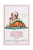 Hawaii, Richard Harris, Julie Andrews, Max Von Sydow, 1966 Prints