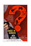House of Numbers, Jack Palance, 1957 Plakater