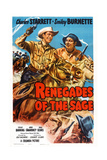 Renegades of the Sage, from Left: Charles Starrett, Smiley Burnette, 1949 Posters