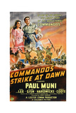 Commandos Strike at Dawn, Top from Left: Anna Lee, Paul Muni, 1942 Poster