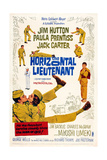 The Horizontal Lieutenant, Bottom from Left: Jim Hutton, Paula Prentiss, Miyoshi Umeki, 1962 Plakater