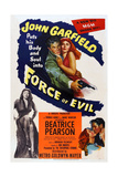 Force of Evil, John Garfield, Marie Windsor, 1948 Posters