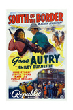 South of the Border, Gene Autry (Top Center), 1939 Print