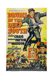 Drums in the Deep South, from Top: James Craig, Barbara Payton, Guy Madison, 1951 Posters