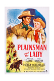 Plainsman and the Lady, from Left: Bill Elliott, Vera Ralston, 1946 Prints