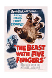 The Beast with Five Fingers, L-R: Peter Lorre, Robert Alda, Andrea King, 1946 Prints