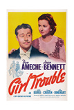 Girl Trouble, from Left: Don Ameche, Joan Bennett, 1942 Posters