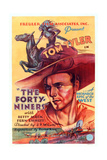The Forty-Niners, Tom Tyler, 1932 Poster