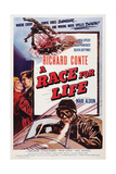 Race for Life, (Aka Mask of Dust), Richard Conte, 1954 Art
