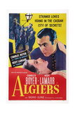 Algiers, from Left: Hedy Lamarr, Charles Boyer, 1938 Poster
