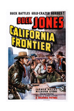 California Frontier, Left: Buck Jones, 1938 Prints