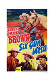 Six Gun Mesa, Top and Bottom Left: Johnny Mack Brown, 1950 Posters