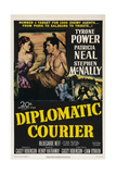 Diplomatic Courier, Patricia Neal, Tyrone Power, 1952 Print