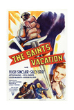 The Saint's Vacation, from Left: Cecil Parker, Hugh Sinclair, Sally Gray, Hugh Sinclair, 1941 Giclée-tryk