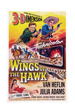 Wings of the Hawk, Top from Left: Van Heflin, Julie Adams, Abbe Lane (Bottom), 1953 - Reprodüksiyon