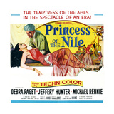 Princess of the Nile, from Left: Debra Paget, Jeffrey Hunter, 1954 Poster