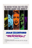 Berserk, Diana Dors (Blue), Joan Crawford (Orange), Michael Gough (Green), 1967 Poster