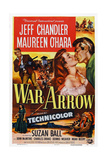 War Arrow, from Left: Jeff Chandler, Maureen O'Hara, Jeff Chandler, 1953 Print