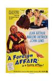 A Foreign Affair, Marlene Dietrich, John Lund, Jean Arthur, 1948 Posters