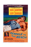 Female on the Beach Art: from Left: Joan Crawford, Jeff Chandler: Left Insert: Jan Sterling, 1955 Print