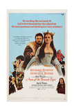 Anne of the Thousand Days, from Left, Richard Burton, Genevieve Bujold, Irene Papas, 1969 Giclee Print