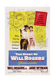 The Story of Will Rogers, from Left: Will Rogers Jr., Jane Wyman, 1952 Art
