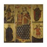 Madonna mit Kind und Heiligen Poster von Paolo Veneziano