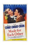 Made for Each Other, from Left: Carole Lombard, James Stewart, 1939 Posters