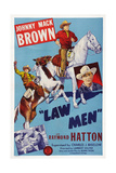 Law Men, Left: Raymond Hatton; Center and Right: Johnny Mack Brown, 1944 Print