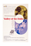 Valley of the Dolls, from Top: Sharon Tate, Patty Duke, Susan Hayward, Sharon Tate, 1967 Poster