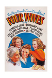 Four Wives, from Left: May Robson, Rosemary Lane, Lola Lane, Priscilla Lane, Gale Page, 1939 Giclee Print